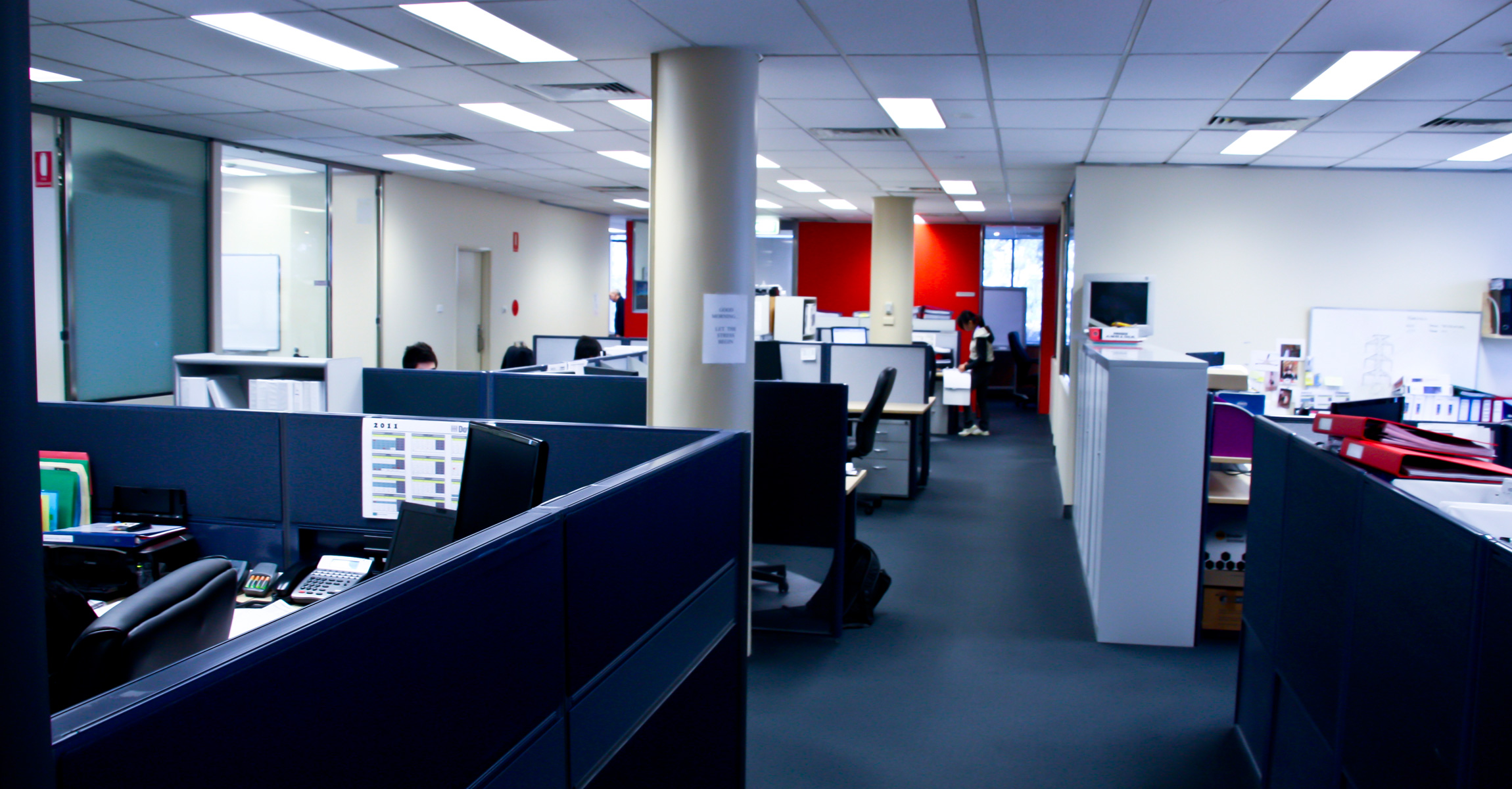 Downer edi office fitout ckj building services for Office fit out